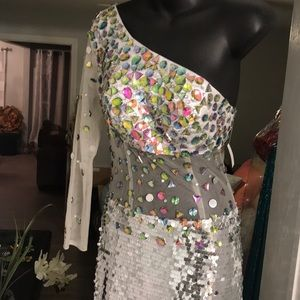 NWT Sequined prom dress